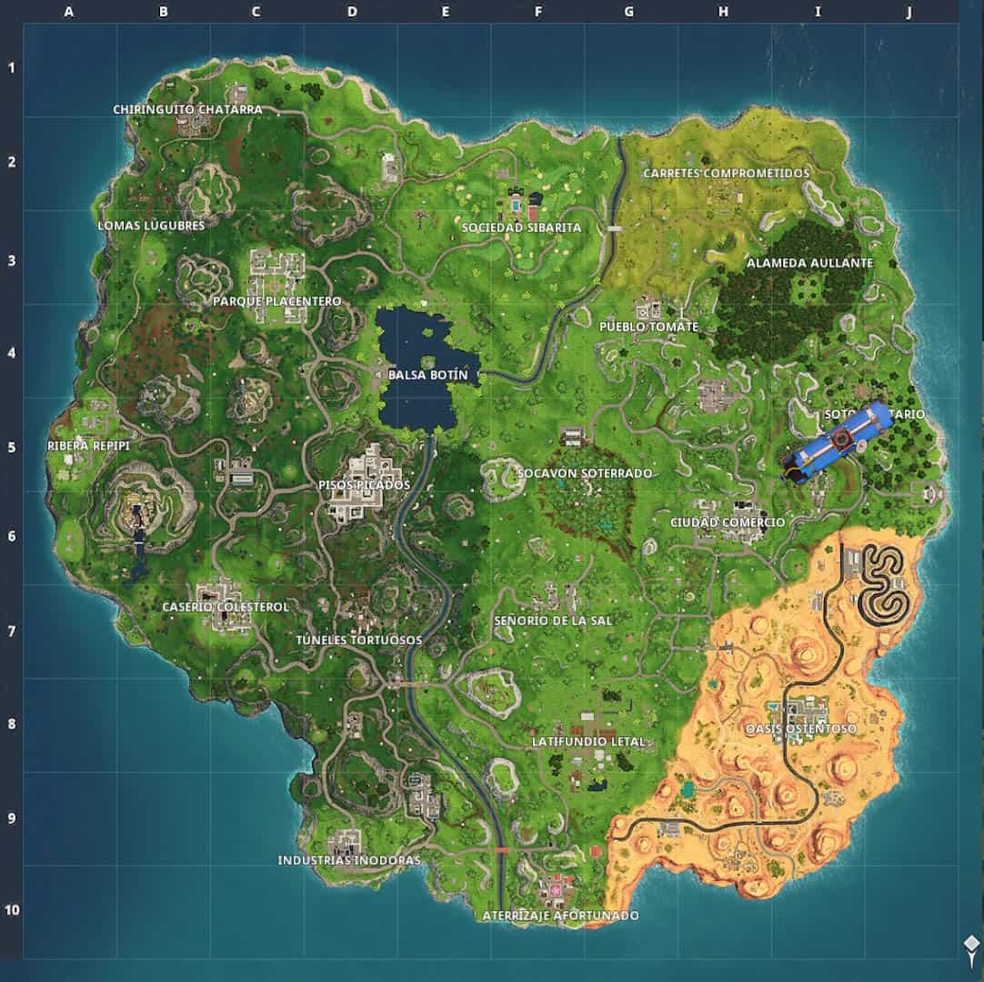 Mapa fortnite Temporada 5